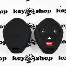 Чехол (черный, силиконовый) для авто ключа  Mitsubishi (Митсубиси) 3 + 1 кнопки