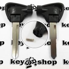 Ключ с магнитами для мотоцикла Yamaha (Ямаха) лезвие левое с упороми, тип 2