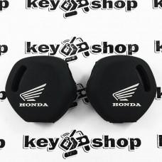 Чехол (черный, силиконовый) для мото ключа Honda (Хонда)