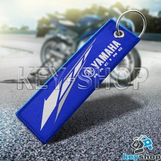 Брелок для мотоключей Yamaha (Ямаха) синий, с кольцом (текстиль)