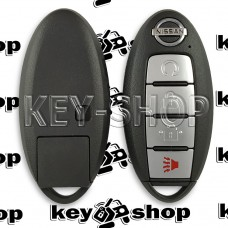 Смарт ключ для Nissan Rogue 2017-2018 год(Ниссан Рог) 3+ 1 кнопка, ID 4A, Hitag AES,433 Mhz (S180144109)