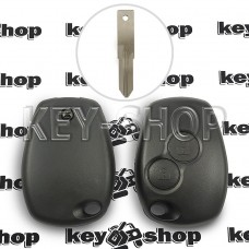 Корпус автоключа Nissan (Ниссан) 2 кнопки, под лезвие VAC102