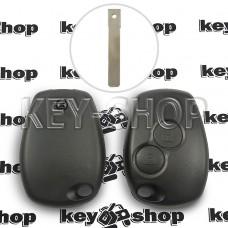 Корпус автоключа Opel (Опель) 2 кнопки, под лезвие VA2