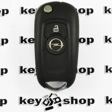 Оригинальный выкидной ключ для Opel Astra K (Опель Астра К) 2 кнопки, с чипом ID 46,(PCF 7961 E), 433MHz