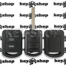 Чехол (черный, силиконовый) для авто ключа Opel (Опель) 2 кнопки