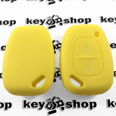 Чехол (желтый, силиконовый) для авто ключа Opel (Опель) 2 кнопки
