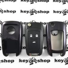 Чехол (черный, полиуретановый) для выкидного ключа Opel (Опель), кнопки без защиты