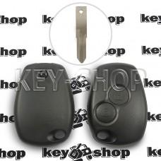 Корпус автоключа Opel (Опель) 2 кнопки, под лезвие VAC102