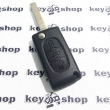 """Корпус выкидного ключа для PEUGEOT (Пежо) 3 - кнопки (продавлена кнопка """"открыть"""")"""