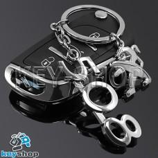 Металлический брелок для авто ключей Пежо 508 (Peugeot 508)