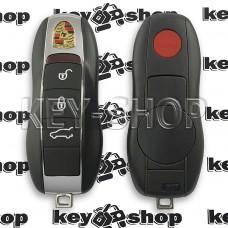 Корпус смарт ключа для Porsche (Порше) 3 кнопки + 1 кнопка (Panik), лезвие HU66