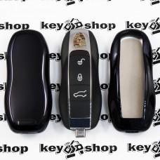 Чехол (черный, полиуретановый) для смарт ключа Porsche (Порше)