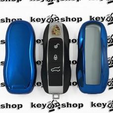 Чехол (синий, полиуретановый) для смарт ключа Porsche (Порше)