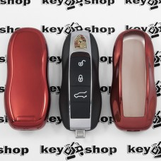 Чехол (красный, полиуретановый) для смарт ключа Porsche (Порше)