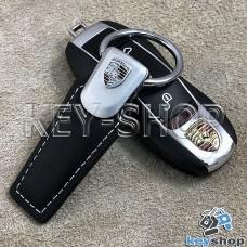 Кожаный брелок для авто ключей Порше (Porsche)