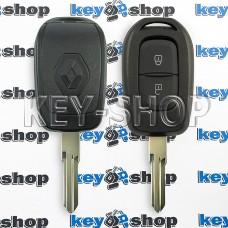 Ключ RENAULT (корпус Рено) - 2 кнопки, без логотипа, лезвие VAC102 (съемное)