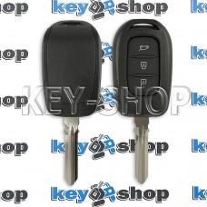 Ключ RENAULT (корпус Рено) - 3 кнопки, после 2012 года, без логотипа, лезвие HU 179 FH (съемное)