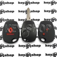 Чехол силиконовый авто ключа RENAULT (Рено) 2 кнопки (черный с красными кнопками)