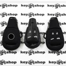 Чехол (черный, силиконовый) для авто ключа Saab (Сааб) 4 кнопки