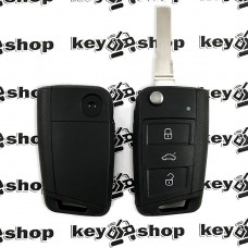 Корпус выкидного автоключа Seat (Сеат), 3 кнопки, лезвие HU66