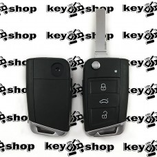 Корпус выкидного автоключа Seat (Сеат), 3 кнопки