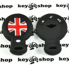 Чехол (черный, силиконовый) для смарт ключа Mini (Мини) 3 кнопки