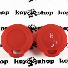 Чехол (красный, силиконовый) для авто ключа Mitsubishi (Митсубиси) 2 кнопки