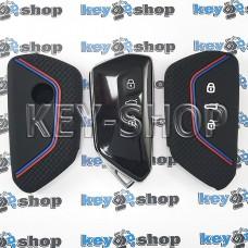 Чехол (черный, силиконовый) для смарт ключа Skoda (Шкода) 3 кнопки