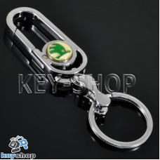 Металлический брелок для авто ключей Шкода (Skoda)
