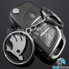 Брелок ключа Шкода (Skoda) металлический (черный)