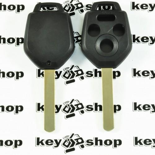 Корпус ключа для Subaru (Субару) 3+1 кнопки, лезвие DAT17