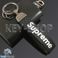 Силиконовый (черный) брелок для ключей Supreme