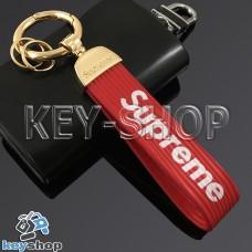 Силиконовый (красный) брелок для ключей Supreme