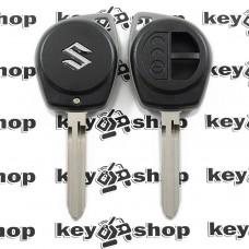 Корпус автоключа Suzuki Liana, Swift (Сузуки Лиана, Свифт), под большой блочок, лезвие TOY43 - 2 кнопки