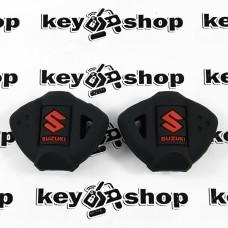 Чехол (черный, силиконовый) для мото ключа Suzuki (Сузуки)