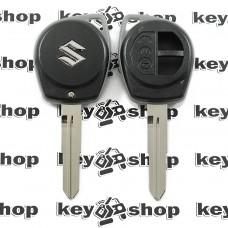 Корпус автоключа Suzuki (Сузуки), под большой блочок, лезвие SZ11 - 2 кнопки