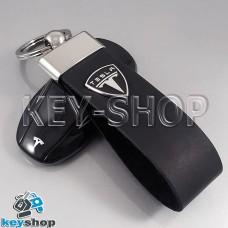Кожаный (черный) брелок для ключа Tesla (Тесла)