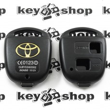 Корпус автоключа для TOYOTA (тойота) под 2 кнопки , без лезвия (под установку родного)