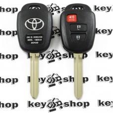 Ключ с чипом для Toyota (Тойота) 2+1 кнопка, 89070-0D580 (B71TA) с H Chip (8A) / 433MHz