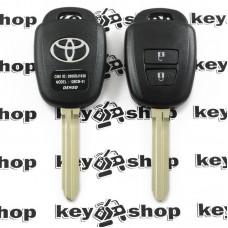 Ключ с чипом для Toyota (Тойота) 2 кнопки, 89070-0D580 (B71TA) с H Chip (8A) / 433MHz
