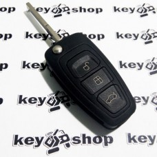 Корпус выкидного автоключа для Ford (Форд) 3 - кнопки, лезвие HU101, без логотипа