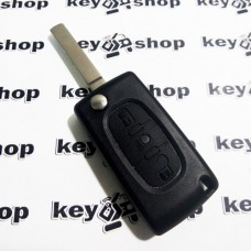 Корпус выкидного ключа для Peugeot, Citroen, Fiat (Пежо, Ситроен, Фиат) 3 - кнопки (сломано крепление лезвия)