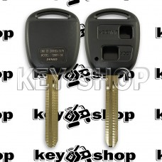 Корпус автоключа Toyota (Тойота) 2 кнопки, лезвие TOY43, (без логотипа)