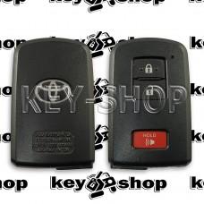 Оригинальный корпус смарт ключа Toyota (Тойота) 2 + 1 кнопки (Б/У)