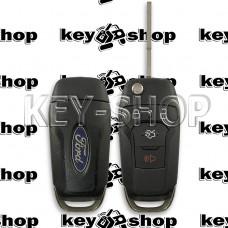 Оригинальный корпус (Б/У) выкидного ключа Ford (Форд) 3 + 1, кнопки  (лезвие HU100 новое)