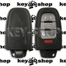 Оригинальный корпус смарт ключа Audi (Ауди) 3 + 1, кнопки  (Б/У)