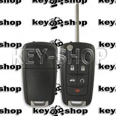 Корпус выкидного ключа Chevrolet (Шевроле) 4 + 1 кнопки, лезвие HU100, без логотипа