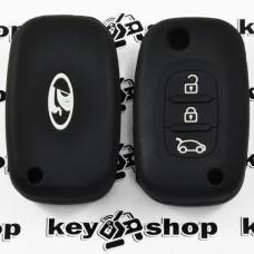 Чехол (черный, силиконовый) для выкидного ключа Vaz (Ваз) 3 кнопки