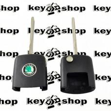 Корпус верхней части выкидного ключа для SKODA (шкода), лезвие HU66