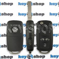 Выкидной ключ для Volkswagen Multivan (Фольцваген Мультивен) 5 кнопок, чип ID48 / 433MHz